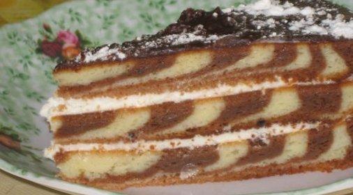 Зебра торт с фото