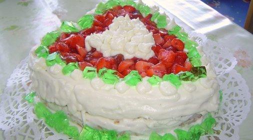 Рецепт торта сердце с фото