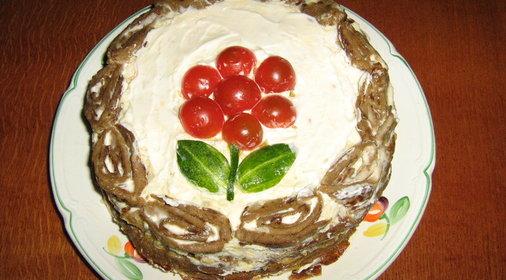 Шоколадный торт со сметаной рецепт фото