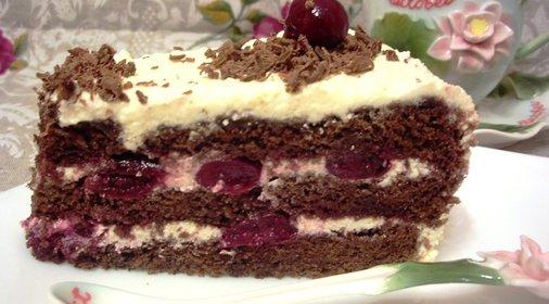 Торт з вишнями рецепт фото