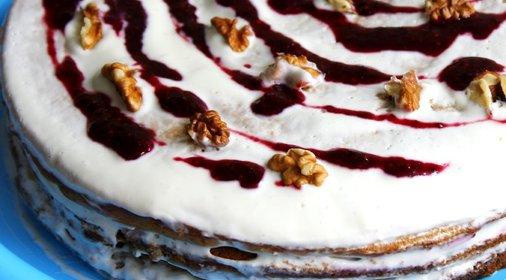 Торт медовик со сметанным кремом с фото